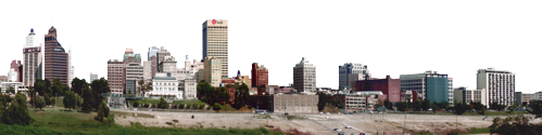 Memphis From Mud Island