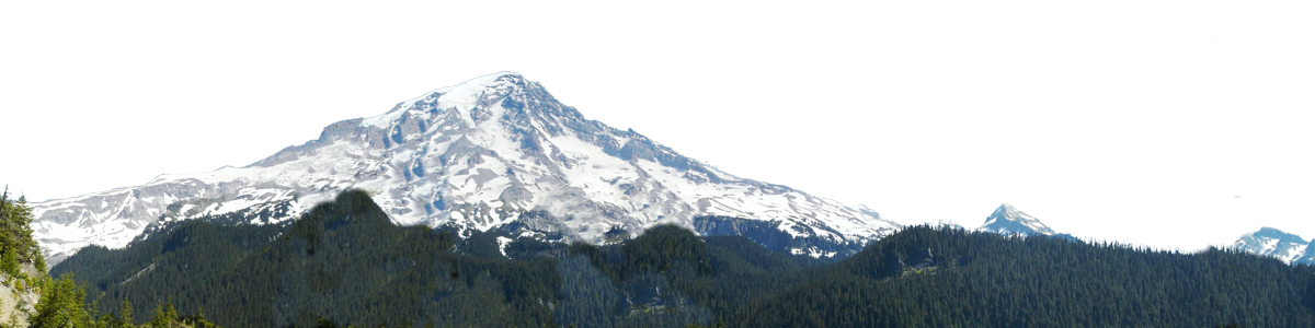 Mount Ranier Snow Capped Left