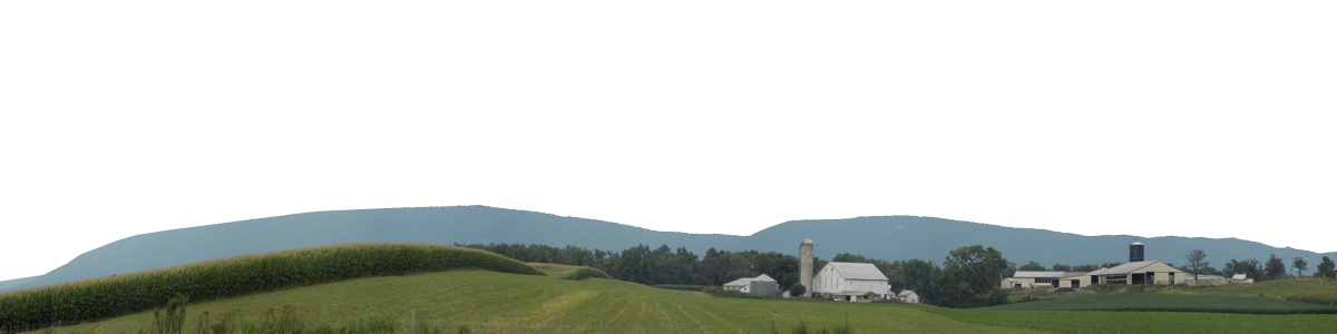 Pennsylvania Farm With Mountains Left