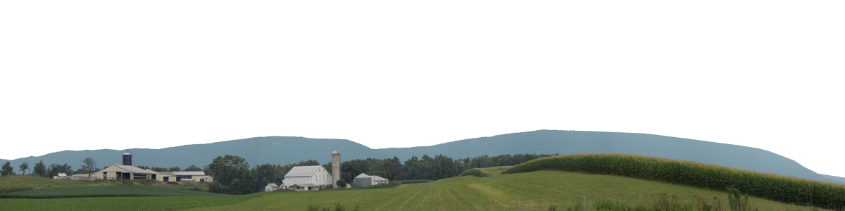 Pennsylvania Farm With Mountains Right