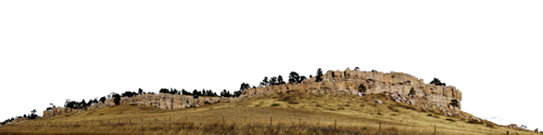 Rock Cliff Casper Wyoming Left