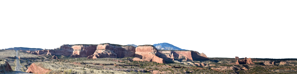 Sandstone Ridge South Of Moab With Road Left