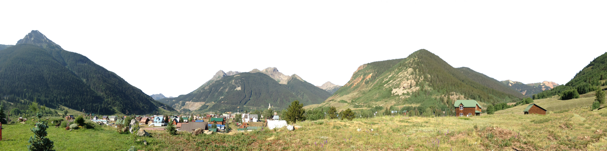 Silverton Pass Colorado With Town Right