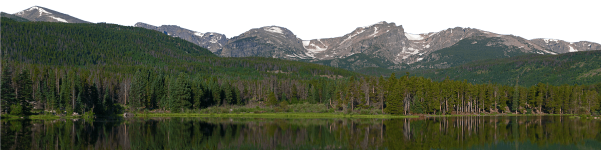 Sprague Lake Mountains Colorado With Lake Left