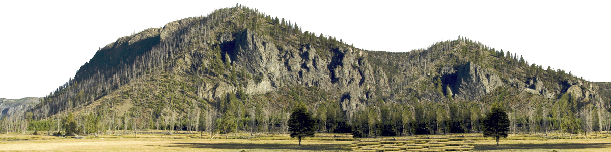 Yellowstone National Park Mountain Left