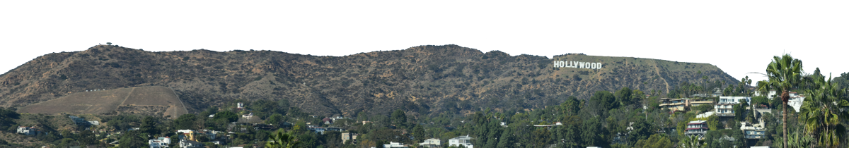 Hollywood Sign And Griffith Observatory Vista Left