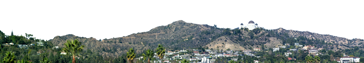 Hollywood Sign And Griffith Observatory Vista Right